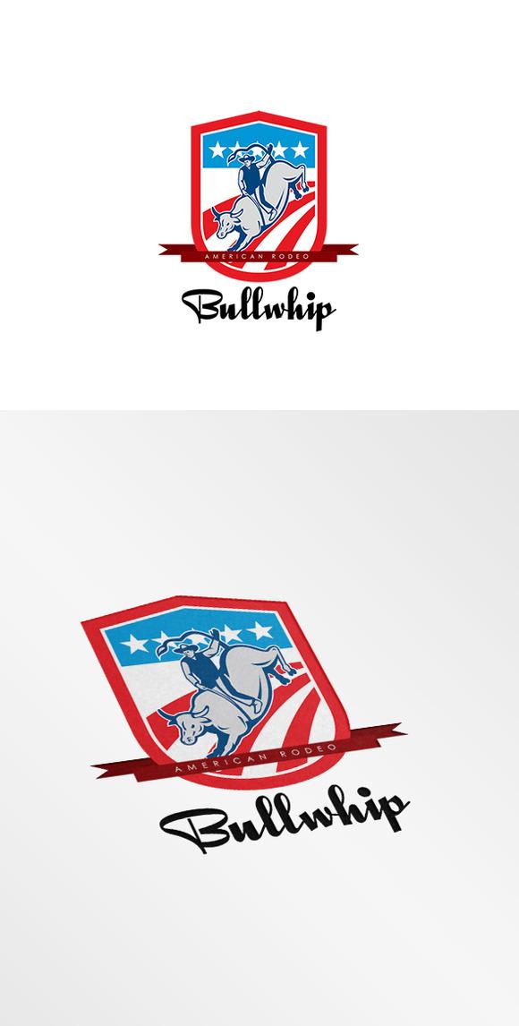 bullwhip rodeo logo logo templates on creative market