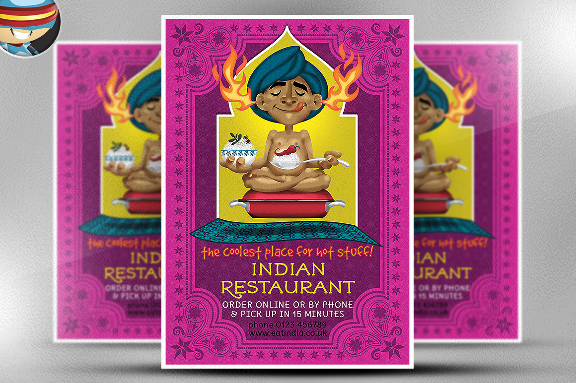 Indian Restaurant Flyer Template ~ Flyer Templates on