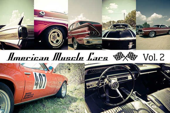 American Muscle Cars Vol. 2 (12x) - Objects