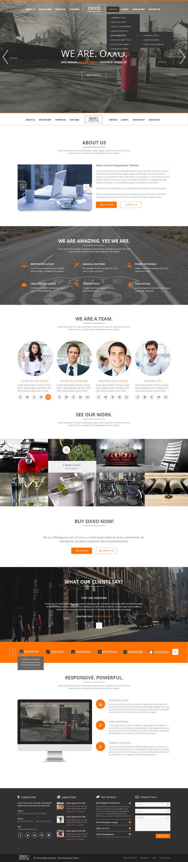 Oxxo Multipurpose PSD Template - Websites - 1