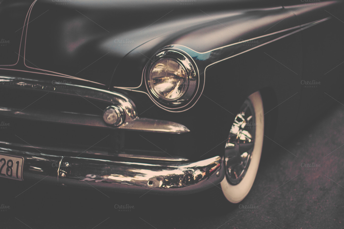 Vintage Automobile Front Center With One Headlight : Car headlight template pictures to pin on pinterest