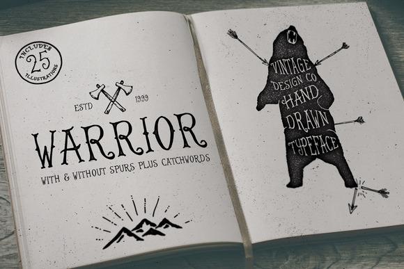 Warrior - Hand Drawn Typeface - Serif - 1