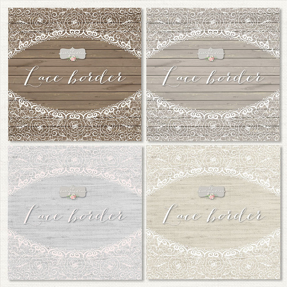 Rustic lace border ~ Illustrations on Creative Market