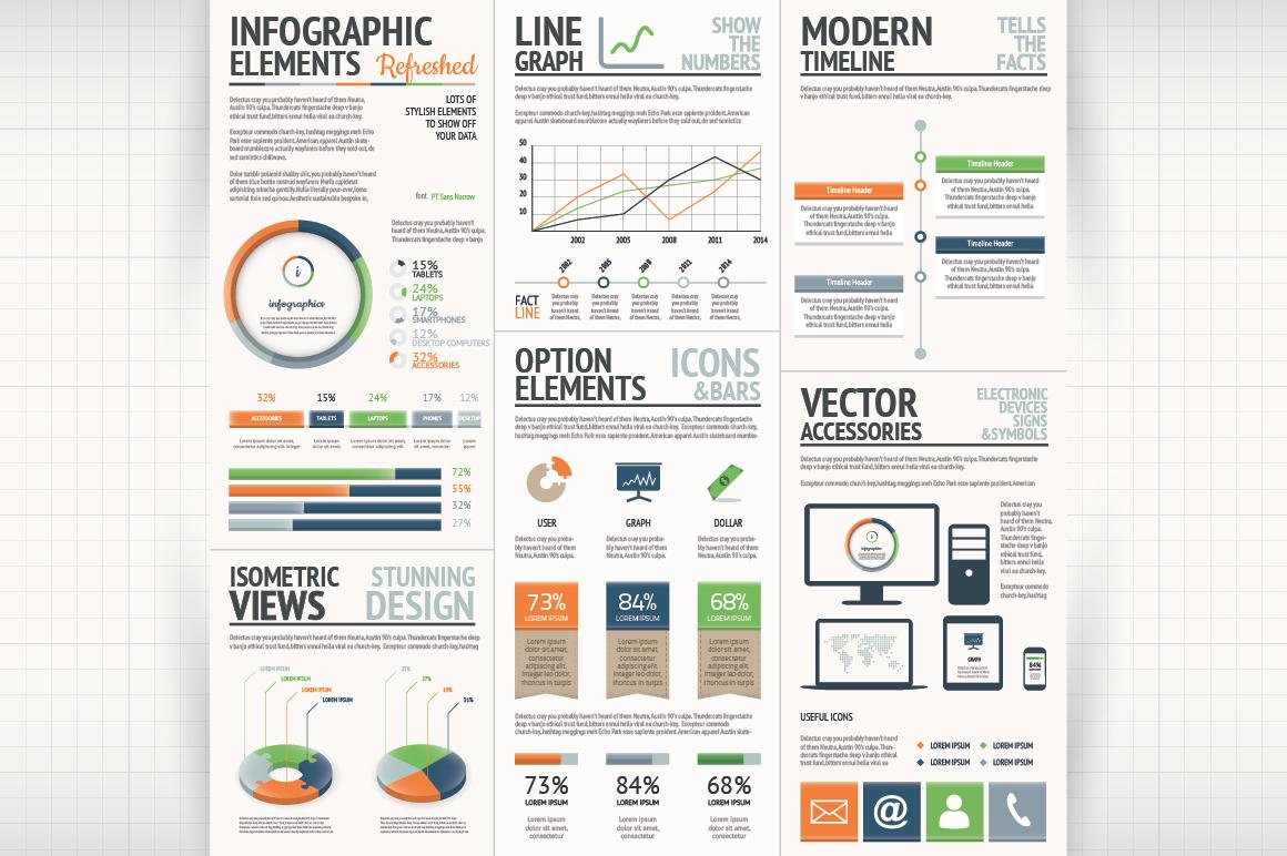 Minimal Infographic Kit - 44% OFF ~ Web Elements on ...