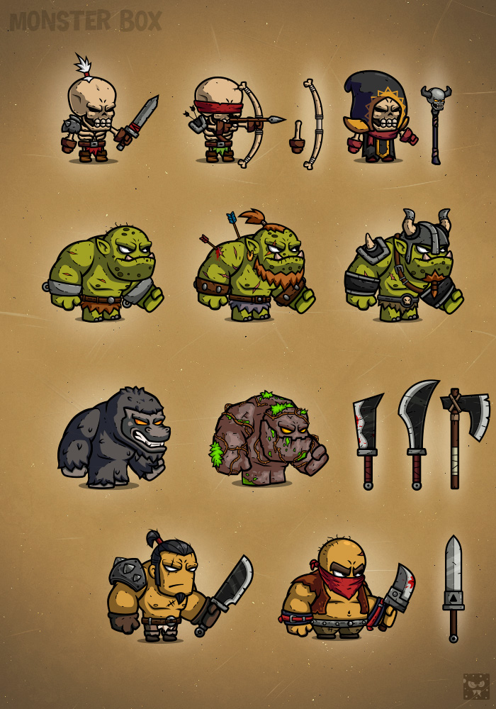 Monster Cartoon Characters Rpg 1 Illustrations On