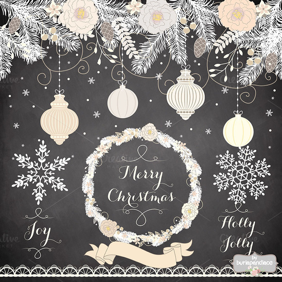 Chalboard/vintage christmas - Illustrations - 1