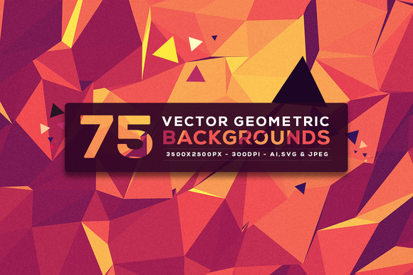 75 Vector Geometric Backgrounds V.5 - Patterns