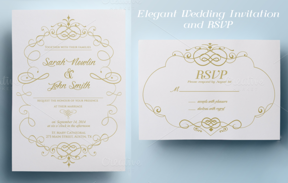 Buy Wedding Invitations Online Uk: Elegant Wedding Invitation And RSVP