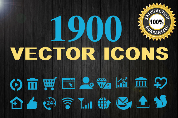 1900 Vector Icons - Icons - 1
