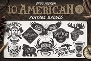 American Vintage Badges Par-Graphicriver中文最全的素材分享平台