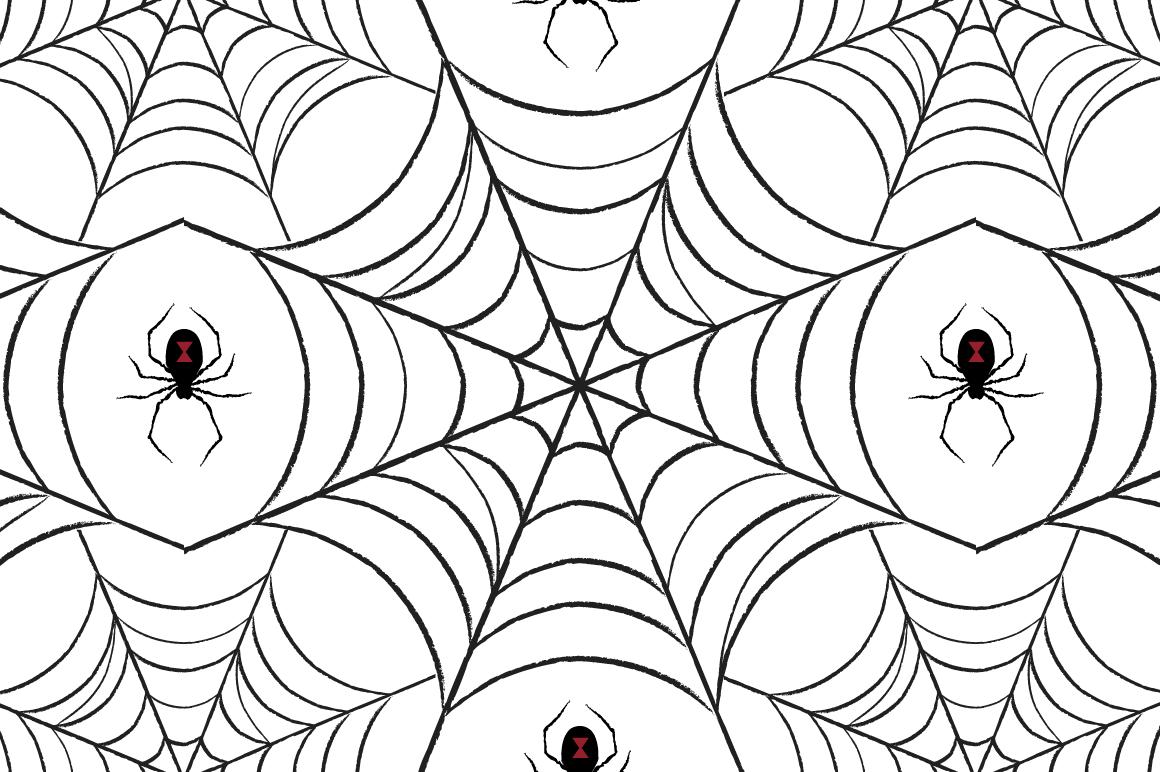 Spider Web Pattern Patterns On Creative Market