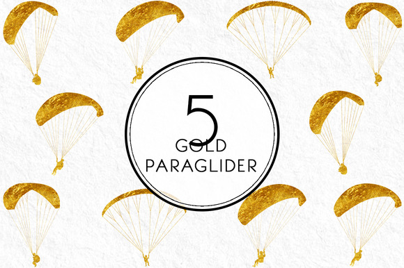 Gold Paraglider