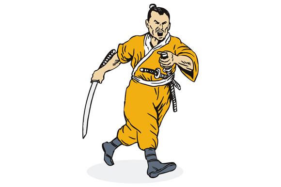 Samurai Warrior Running