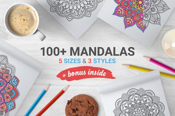 100+ Mandalas+Bonus Frames by miumiu