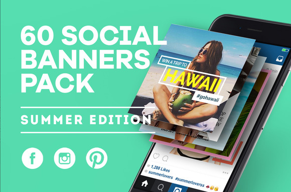 Social Media Banner (Summer) - Web Elements