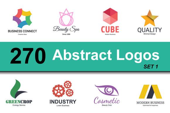 abstract logo design set 1