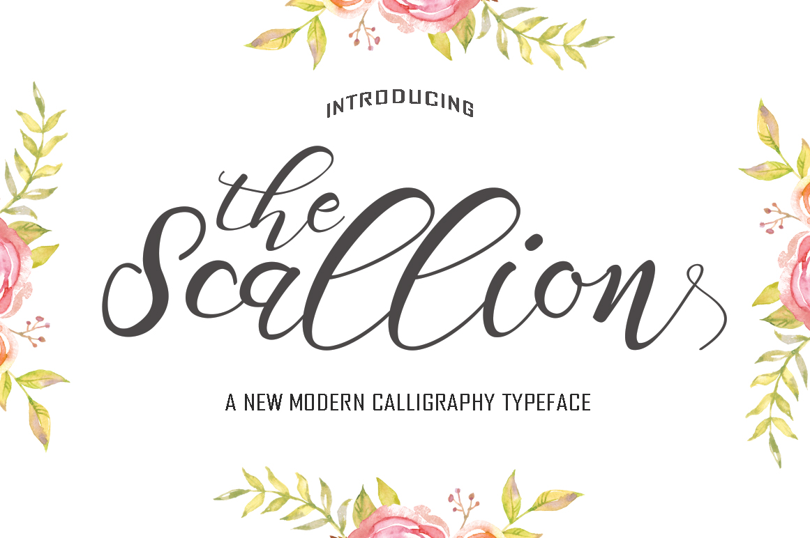 Scallion Modern Calligraphy Font Download