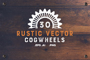30 Rustic Vector Cogwheels-Graphicriver中文最全的素材分享平台
