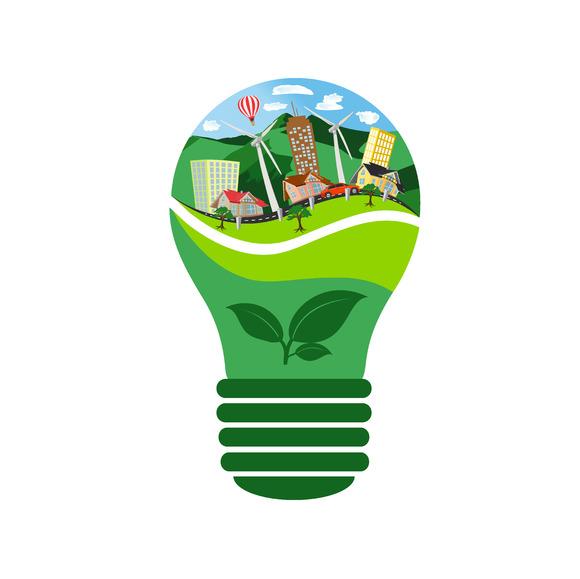 Eco Bulb Renewable Energy Concept