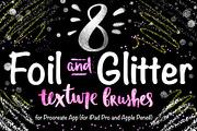 8 Foil &  Glitter Procreate-Graphicriver中文最全的素材分享平台