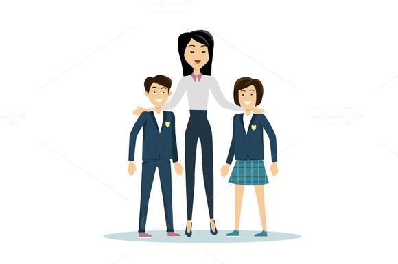 School Teacher With Pupils