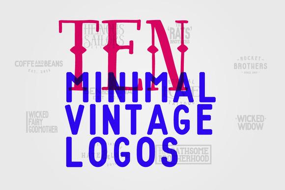 10 Minimal Vintage Logos
