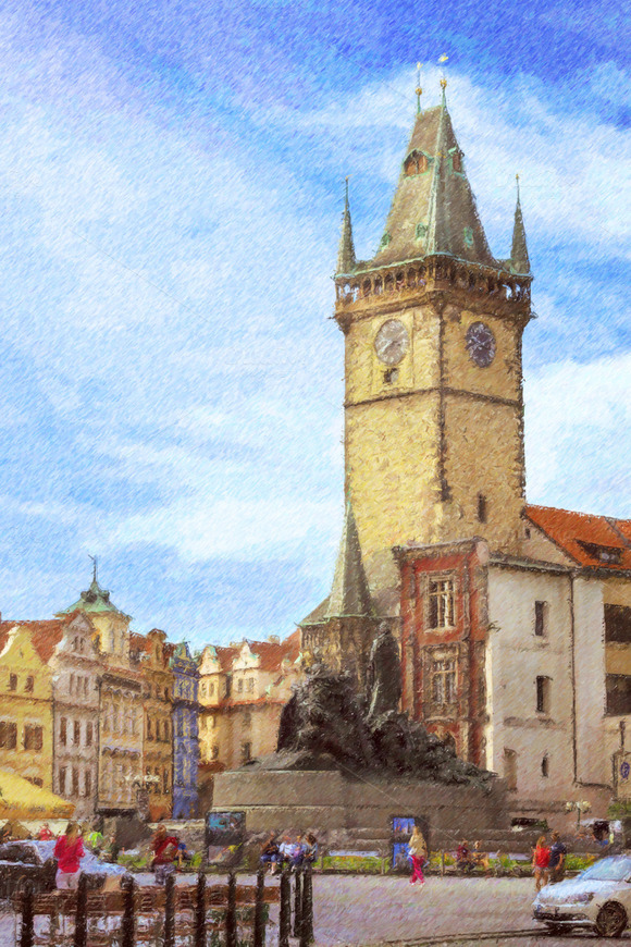 Old Town Square Monument Of Jan Hus Prague