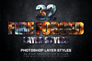 32 Fire Forged Layer Styles-Graphicriver中文最全的素材分享平台