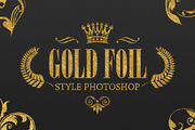 36 Gold Foil Style Photosho-Graphicriver中文最全的素材分享平台