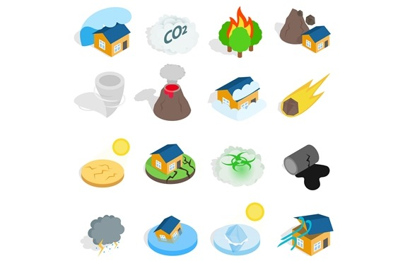 Natural Disaster Catastrophe Icons