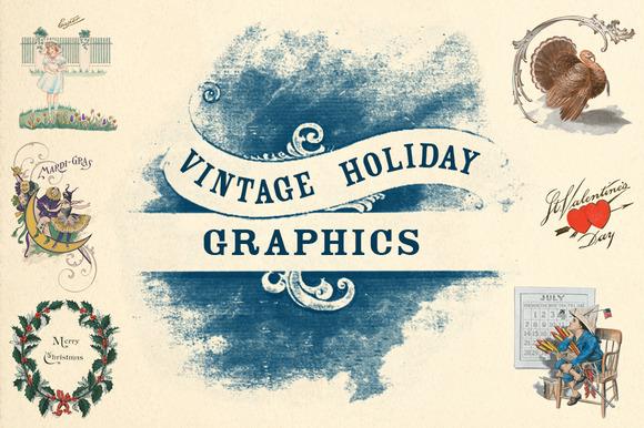 Vintage Holiday Graphics