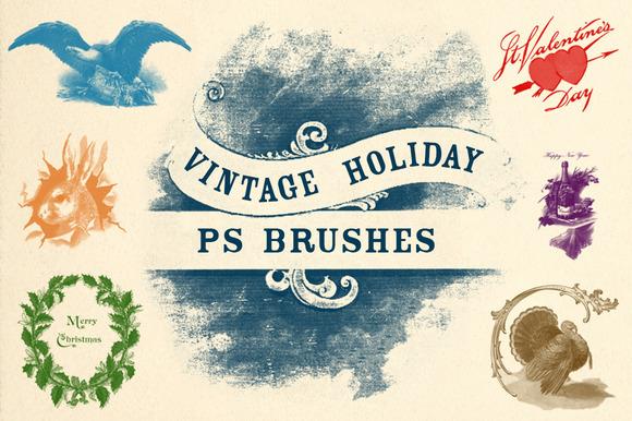 Vintage Holiday Brushes