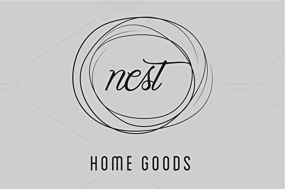 Simple Nest Home Good Logo