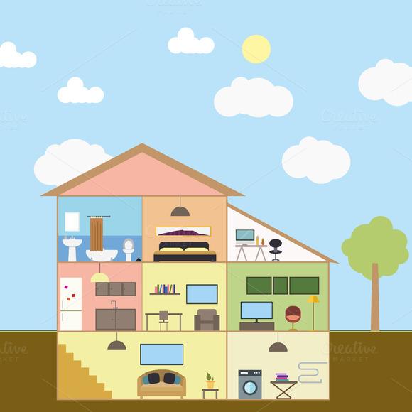 House Photoshop Shapes - 0425