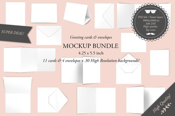 Greeting Cards 4.25 X 5.5 Mockup