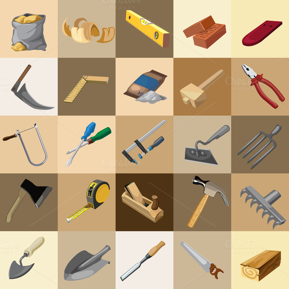 Great Set Of Instruments 25 Icons