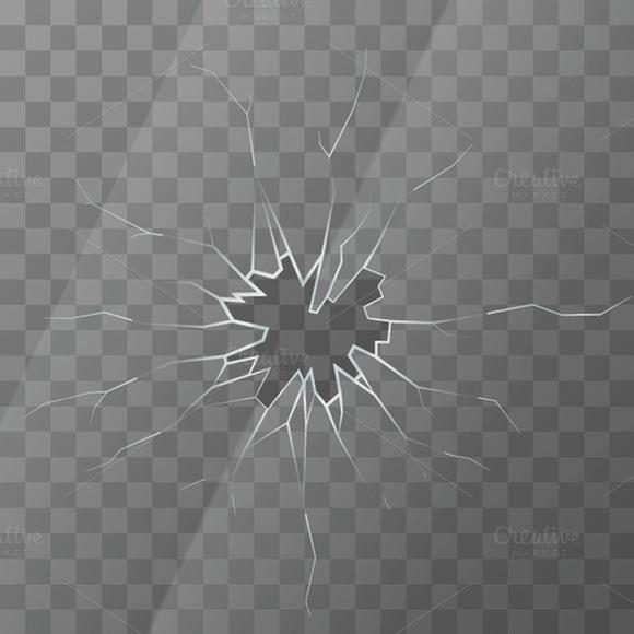 Realistic Broken Glass