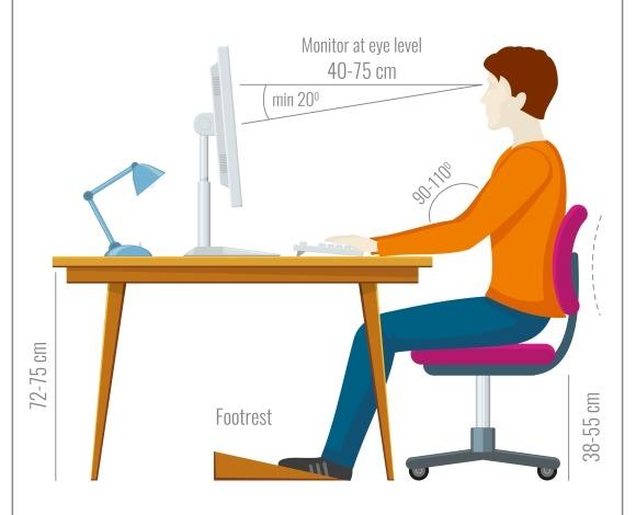 Correct Spine Sitting Posture