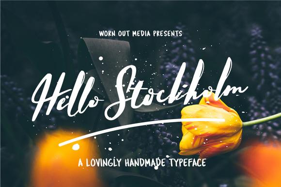 Hello Stockholm - Handmade Typeface - Script