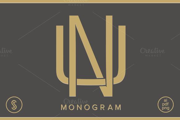 NU Monogram UN Monogram