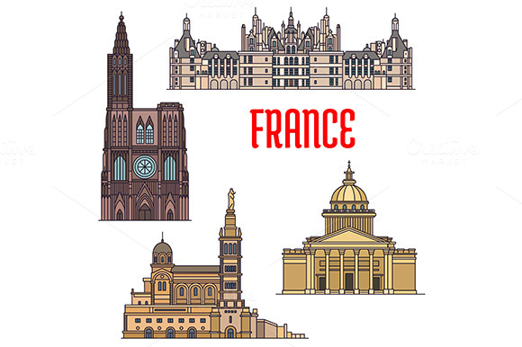 France Temples And Landmarks