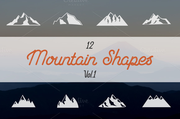Mountain Shapes Collection. Vol.1 - Illustrations