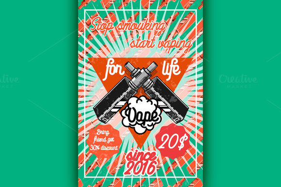 Vintage Vape E-cigarette Poster