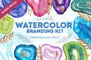 Watercolor crystal branding-Graphicriver中文最全的素材分享平台