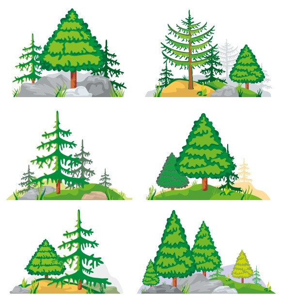 Landscapes With Trees And Grass