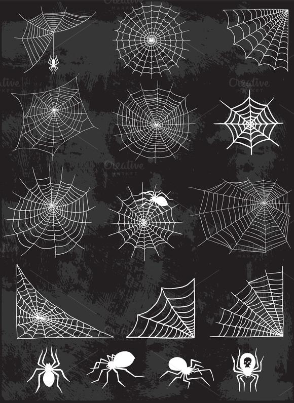 Spider Web Silhouette Vector