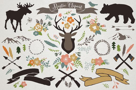 Rustic Mountain Lodge Illustrations - Illustrations - 1
