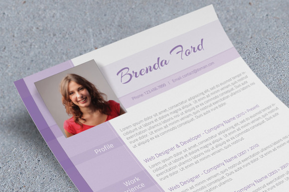 purple cv template
