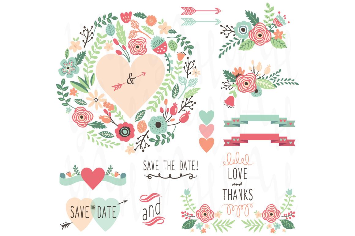 Wedding Vintage Flower Set Illustrations On Creative Market