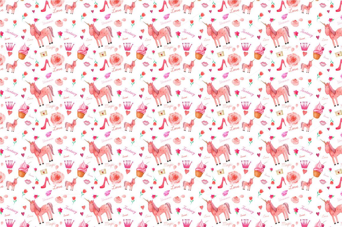 Unicorn Pattern Patterns On Creative Market